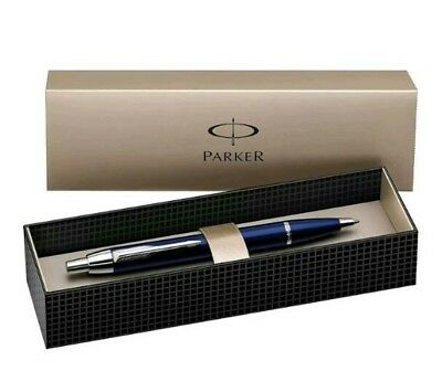 Parker IM Royal Blue Chrome Trim Ballpoint Pen '