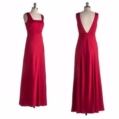 2069cd87 Modcloth Dream Waltz Dress XL NWOT floor length red evening formal old  hollywood