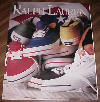Ralph Lauren Footwear & Hosiery Boot Polo Sneakers 6 Page Ads Clippings #100817