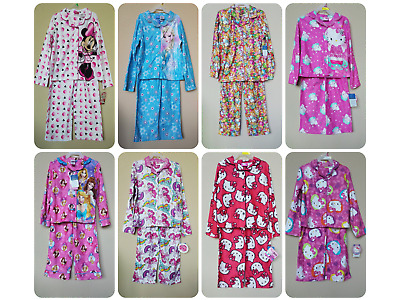 *nwt - Disney/hk/mlp - Girl's 2-Pc License Character Print Flannel Pajama Set