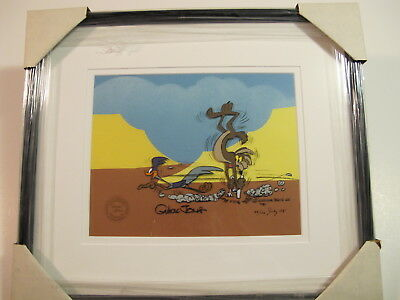 """Chuck Jones """"MISSED AGAIN"""" Hand Signed and Numbered Animation Cel w/ COA"""