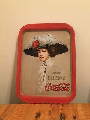 Coca-Cola Vintage Styled 1909 Girl Tray