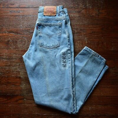 VINTAGE 90s DEADSTOCK NEW LEVIS 550 MOM JEANS WOMENS SIZE 8 HIGH WAISTED