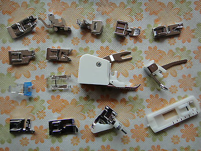 15pcs Domestic Sewing Machine Presser Foot Feet For Singer Brother Toyota Janome