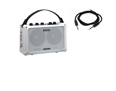 Roland Mobile Cube Ba Guitar-Microphone-Instrument Stereo Amplifier White