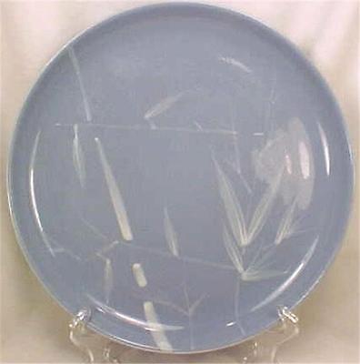 Vintage Blue Pacific Dinner Plate Winfield Fine China Retro Pottery 1950s