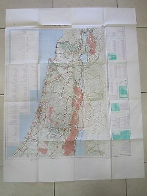 A  HIKING COORDINATION MAP, NORTH SHEET, 1:250000 SCALE, ISRAEL 1983.   cs2441
