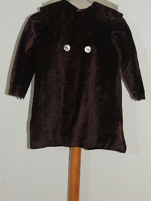 Victorian Girls Brown  Silk Plush Coat