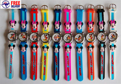 MINNIE MICKEY MOUSE Silicone Boys Girls Watch Children Kids Students Cartoon