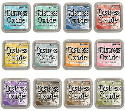 Set of 12 Tim Holtz Distress Oxide Ink Pads (1st release) Support the Local!!