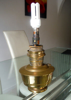 Antique Pat Tested Converted Brass Oil Lamp-Super Aladdin   #