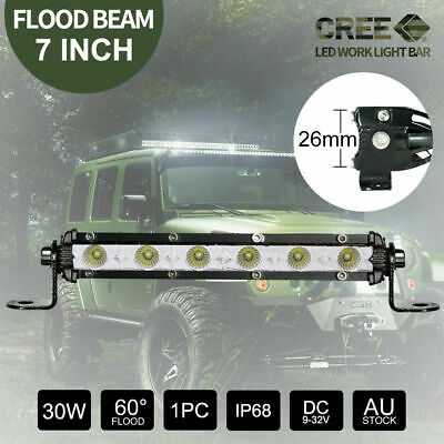 7 inch CREE FLOOD Super Slim LED Light Bar  Offroad 4WD Driving Lamps