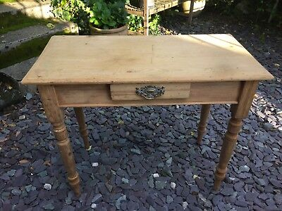 Shabby Chic Antique Pine French Style Desk Console Table