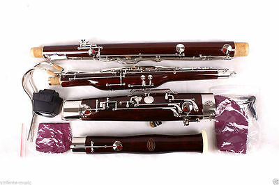 New Bassoon C tone 26 keys great maple + Fine quality Free Pull rod case #B01