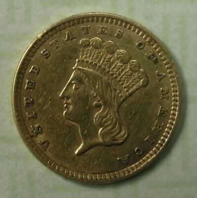 $1G 1857 Ty.3 Liberty Head One Dollar Gold Piece XF-AU Details * AvenueCoin