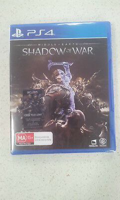 Middle-Earth Shadow of War (Bonus DLC) PS4 Game Brand New&Sealed