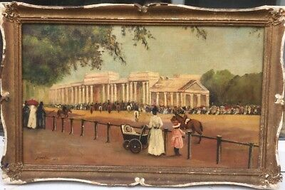 1920s FRENCH IMPRESSIONIST OIL PAINTING OF A VIEW IN PARIS signed indistinctly ?