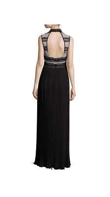 b31e332e8467 ABS BY ALLEN Schwartz Multu Media Pleated Gown Dress - $70.00 | PicClick