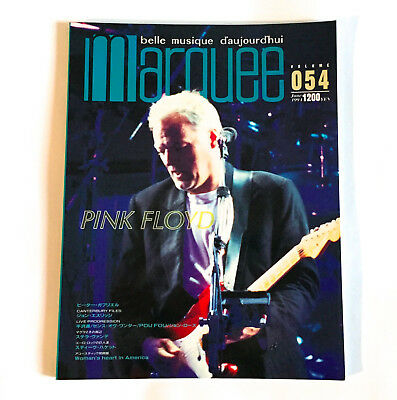 PINK FLOYD Marquee Magazine Japan Jun-1994 Peter Gabriel Steve Hackett Prog Rock