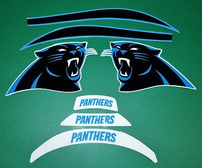 Panthers Helmet Decals Stickers Full Size Large New Carolina