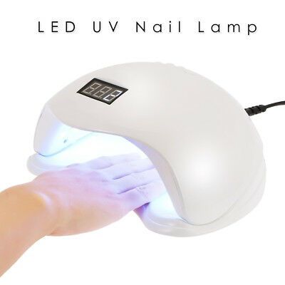 New 48W SUN5 LED UV Nail Lamp Light Gel Polish Cure Nail Dryer UV Lamp UK Plug