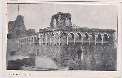 Swansea Castle Bw Ppc Pu Date Unclear Arw Card Light Marks