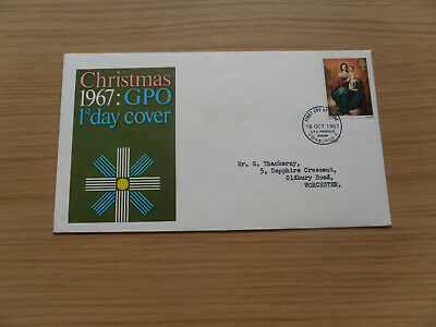 GPO First Day Cover Christmas 1967