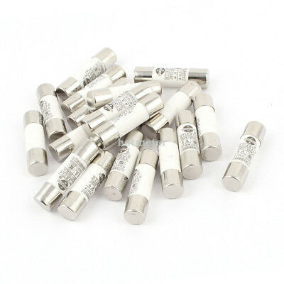 H● 20 Pieces RO15 ( RT18 RT14 ) Ceramic Cylindrical Tube Fuse 4A 380V