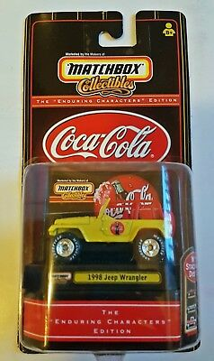 """Matchbox Collectibles """"Enduring Characters"""" Limited Edition Coca-Cola 1998 Jeep"""