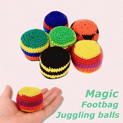 Handmade Hacky Sacks Footbag Magic Juggling Ball  Toy Random Color Dia: 5.5cm