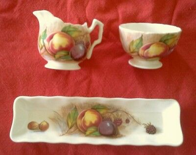 Aynsley Orchard Gold - A Lovely Trio Of Nancy Brunt Ware