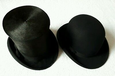 Vintage Silk Top Hat & Bowler Hat The Denton Hat Co, Best Manufacture
