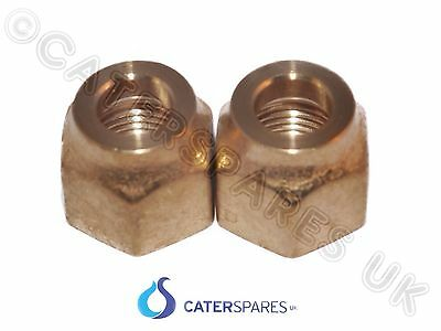 "1/4"" Short Flare Brass Nuts For Refrigeration Copper Tube Pipework X2 Ac Parts"