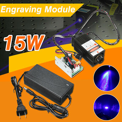 15W Laser Head Engraving Module Wood Cutting Metal Marking For Engraver+Adaptor