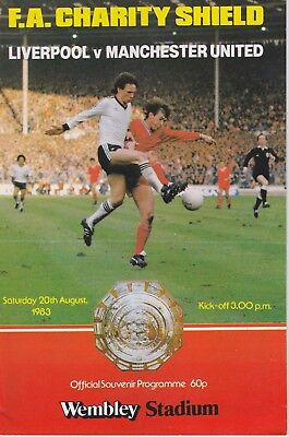 LIVERPOOL v MANCHESTER UNITED ~ CHARITY SHIELD ~ 20 AUGUST 1983