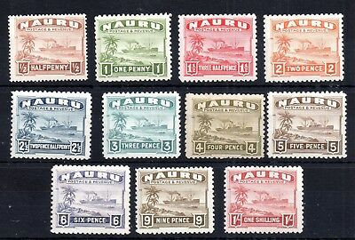 Nauru 1924 Coastline mint (MH) set to 1/- WS6192