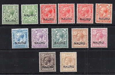 Nauru KGV 1916 mint (MH) collection with variety WS6194