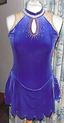 NEW SHARENE ICE SKATING COMPETITION DRESS Ladies Medium  with Swarovski Crystals