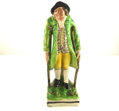 Staffordshire Pottery Figure Of A Elderly Gentleman Old Age