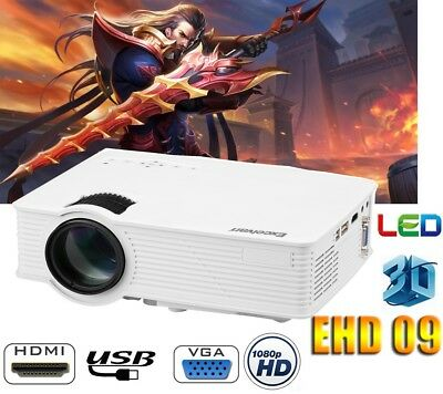 3000 lumens Mini VIDEOPROJECTEUR 1080P HD LED 3D HOME CINÉMA USB/AV/ATV/HDMI/VGA