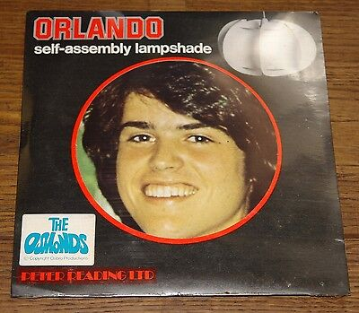 DONNY OSMOND ORIGINAL 1970s SELF-ASSEMBLY LAMPSHADE STILL SEALED OLD SHOP STOCK