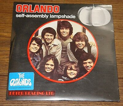 THE OSMONDS ORIGINAL 1970s SELF-ASSEMBLY LAMPSHADE STILL SEALED OLD SHOP STOCK