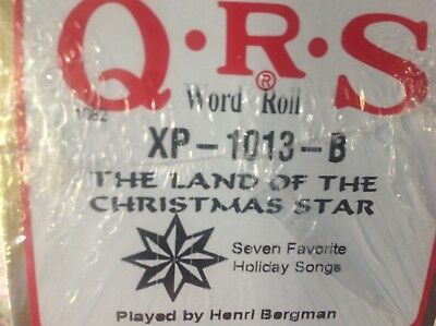 LAND OF THE CHRISTMAS STAR   6  Selections BRAND NEW LONG PLAY  PIANOLA   ROLL