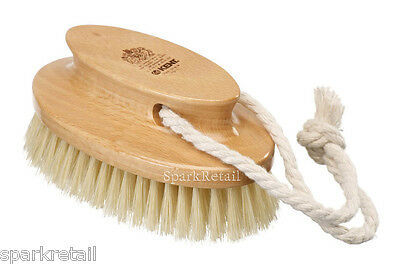 Kent Beechwood Exfoliating SHOWER BRUSH Natural Bristle Body Scrubber FD11