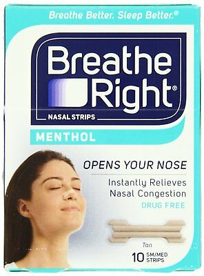 Breathe Right Instant Relief Nasal Congestion Large Menthol 60 Strips 6 Boxes