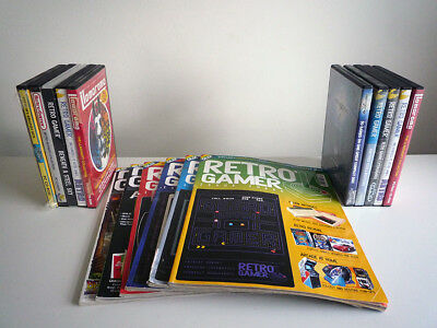 ** 6 x early Retro Gamer Magazines including various boxed cover disks VGC **