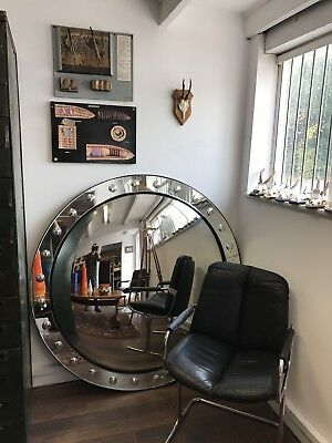 Superb & Very Stylish Large Port Hole Convex Glass Mirror. Open To Offers.