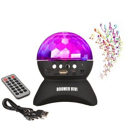 BOOMER VIVI Disco DJ Bluetooth Speakers Rotating LED Strobe Bulb 6 Changing For