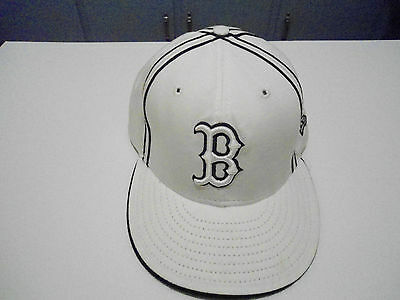 Boston Red Sox Baseball Cap Hat White 59 Fifty New Era 7 3/8 New Without Tags