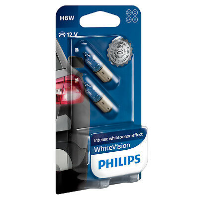 Philips WhiteVision H6W Begrenzungs- Birnen (Twin Pack) 12036WHVB2